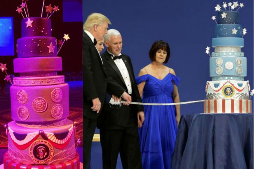 Donald Trump's Inaugral Cake Was 'Commissioned' To Look Like Obama's, Says Chef