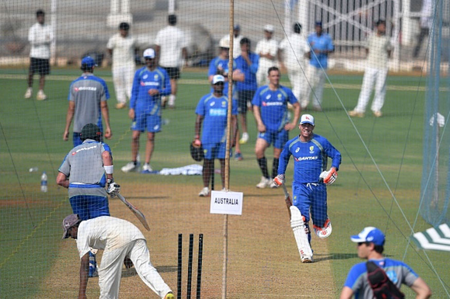 Australians practicing at the Brabourne Stadium ahead of their tour match against India A. (Getty Images)
