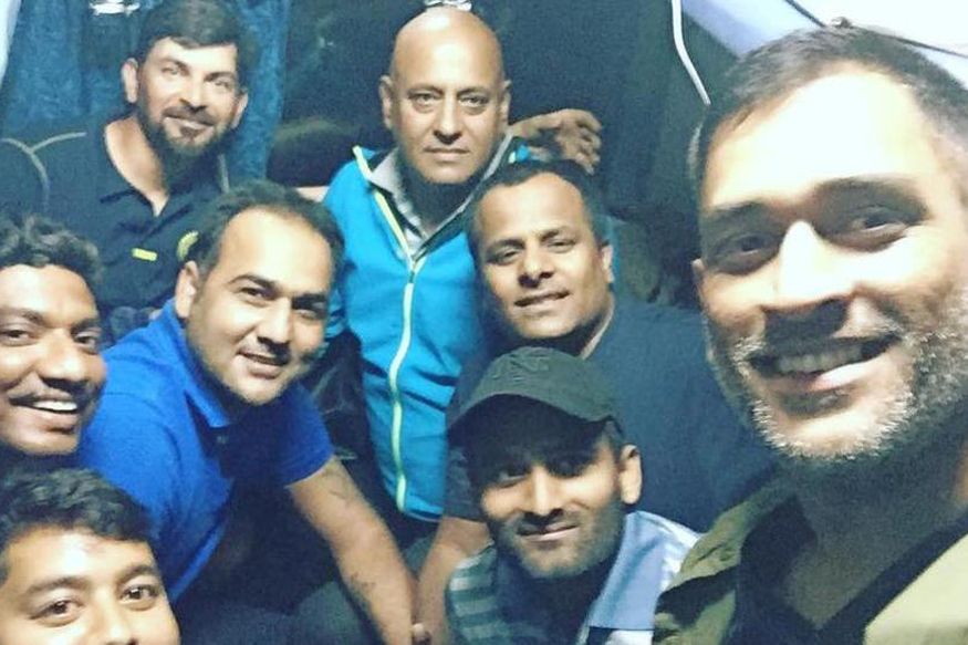 MS Dhoni Travels By Train After 13 Years