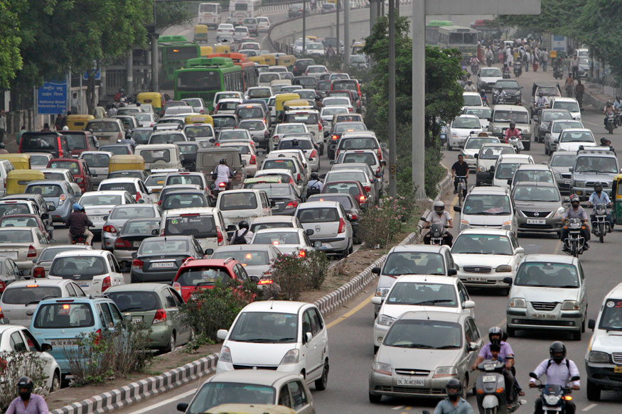 Traffic Crawls as Delhi Shops on Dhanteras