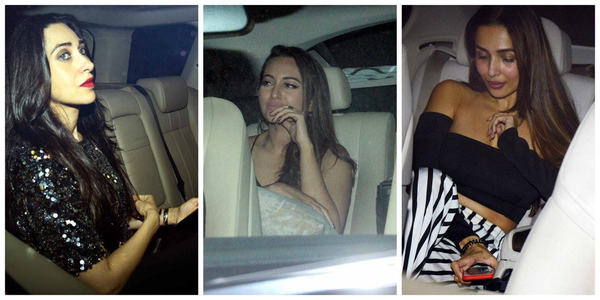 Kareena, Karisma, Malaika, Arbaaz, Iulia attend Seema Khan's birthday bash