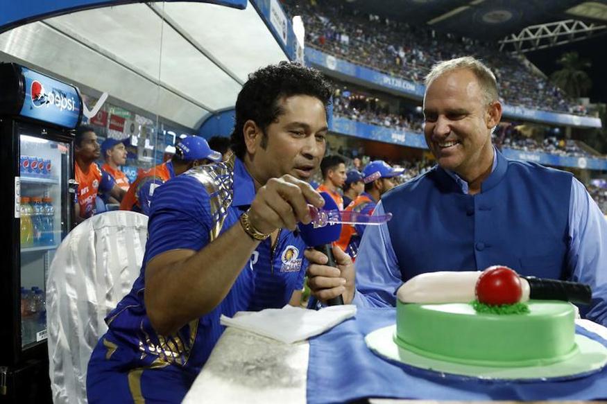Birthday Cakes With Name Sachin ~ When wankhede sang happy birthday for sachin tendulkar