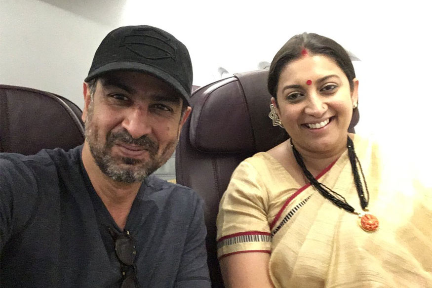 When Smriti Irani and Ronit Roy Had a Mid-air 'Kyunki...' Reunion
