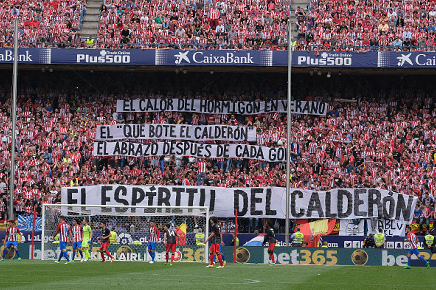Atletico Madrid Waves Goodbye to Vicente Calderon Stadium
