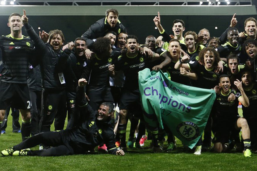 Чемпионы Англии 2016-17.
