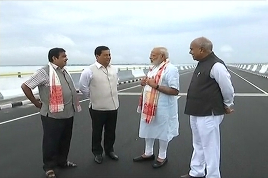 PM Modi Inaugurates Dhola-Sadiya Link, India's Longest Bridge at 9.15 km