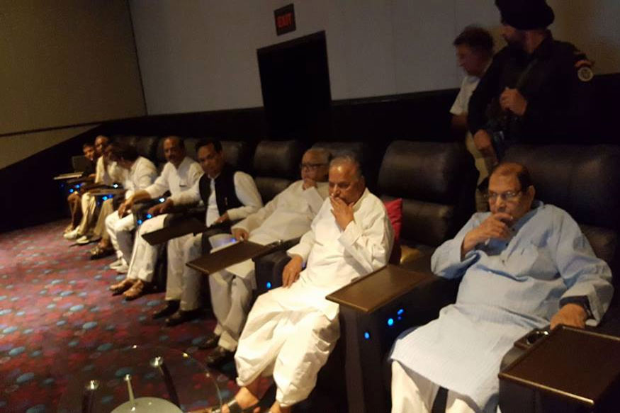 Mulayam Singh Watches Baahubali With SP Leaders, Akhilesh Missing