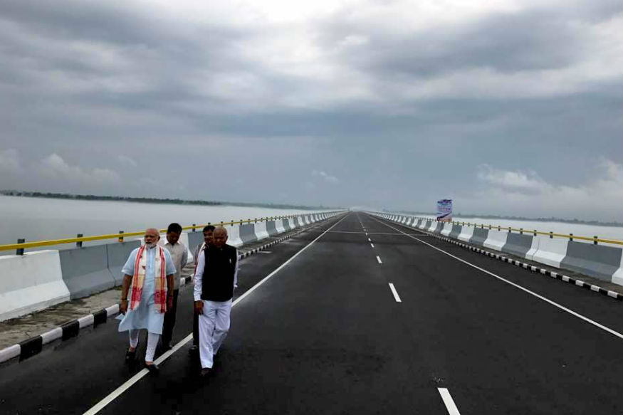 Modi Flexes Muscle Near Border, Opens Bhupen Hazarika Setu, India's Longest