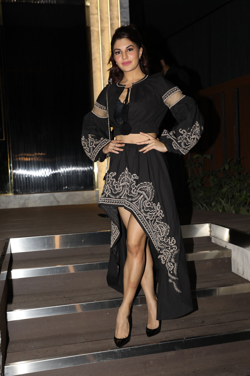 Jacqueline Fernandez arrives at the opening of restaurant 'Arth' designed by Gauri Khan.