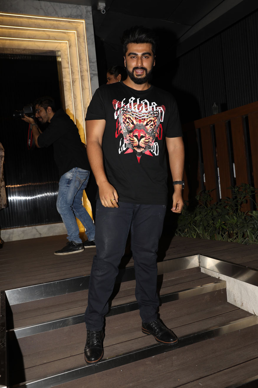 Arjun Kapoor arrives at the opening of restaurant 'Arth' designed by Gauri Khan. (Image: Yogen Shah)