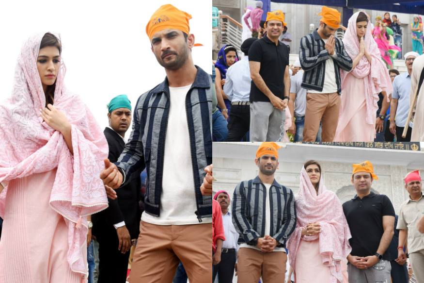 Sushant Singh Rajput, Kriti Sanon Seek Blessings At Bangla Sahib Ahead of Raabta Release