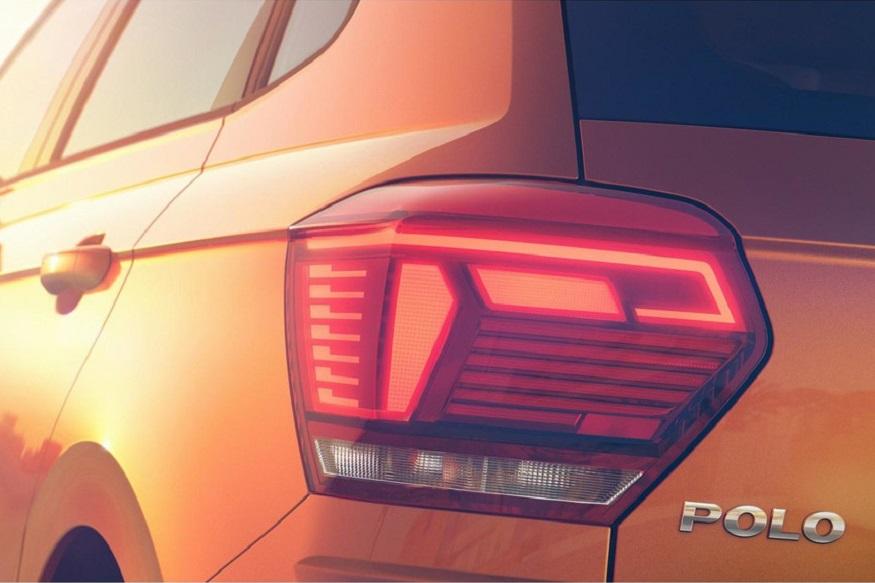 2018 Volkswagen Polo tail light. (Image: Volkswagen)