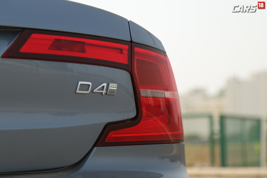 Volvo S90 C-Section tail light with D4 logo. (Image: Siddharth Safaya/ News18.com)