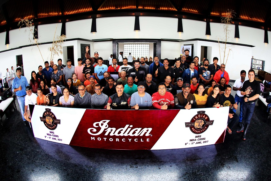 IMRG India at the third National Ride in Coorg. (Image: Indian Motorcycles)
