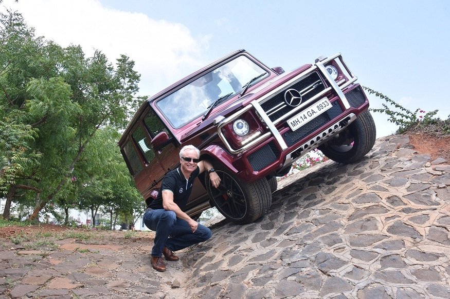 Mr. Roland Folger, MD & CEO Mercedes-Benz India with the Mercedes-AMG G 63 'Edition 463'. (Image: Mercedes-Benz)