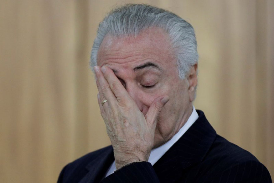 Brazil's President Michel Temer Charged With Taking Bribes