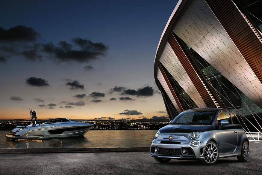 Abarth 695 Rivale 175 Edition with Riva Motorboat. (Image: Abarth)