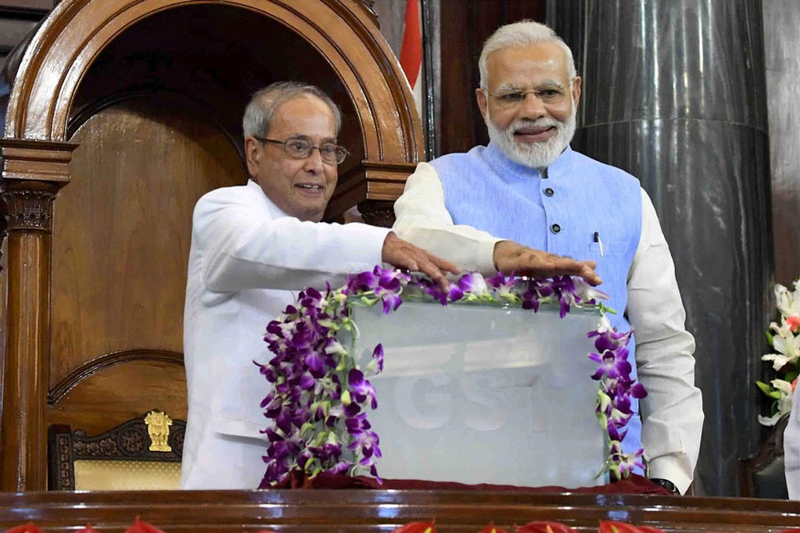 PM Modi hosts farewell for Prez Mukherjee