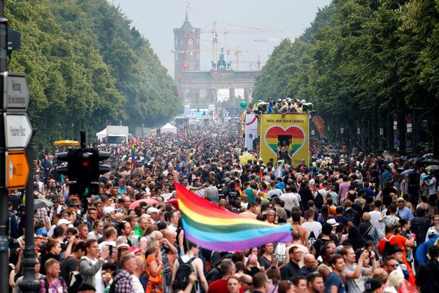 Thousands Dance Through Berlin Streets to Promote Gay and Lesbian Rights