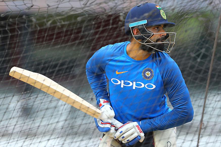 Image result for Kohli batting in the nets