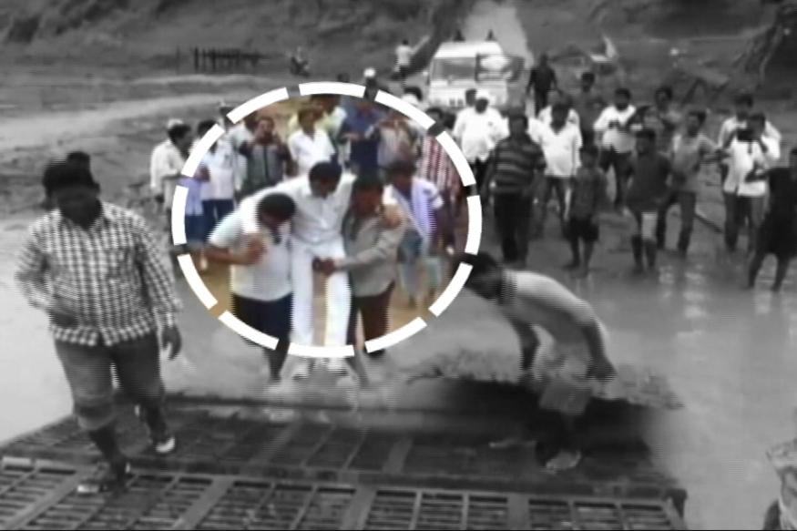 Odisha MLA Does a Shivraj, Gets Followers to Carry Him Across Mud