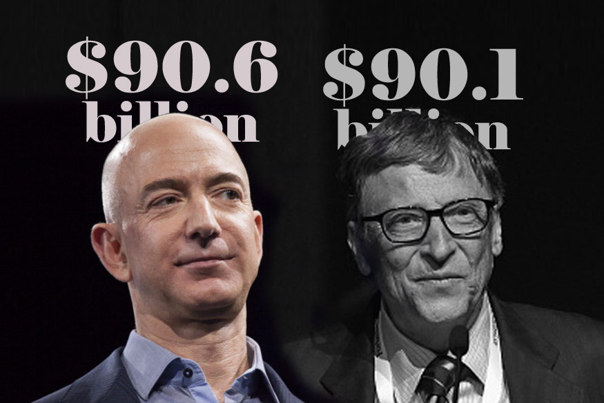 Jeff Bezos briefly edges ahead of Bill Gates as world's richest person