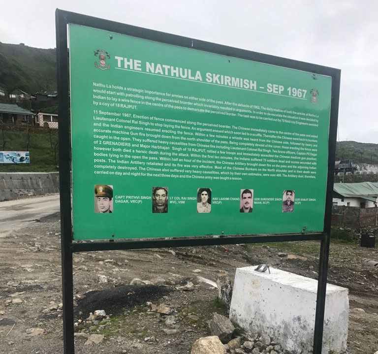 A small poster remembering the martyrs of the 1967 skirmish (Photo: Guneet Vedi/ Network18)