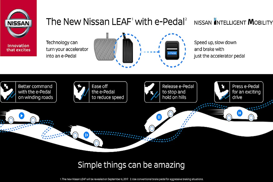 nissan leaf to feature e pedal one pedal technology news18. Black Bedroom Furniture Sets. Home Design Ideas