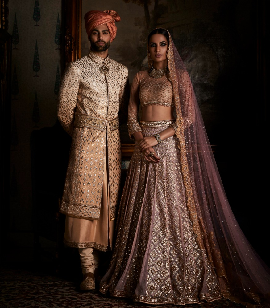 tarun tahiliani 1 - Western Wedding Dresses With Cowboy Boots
