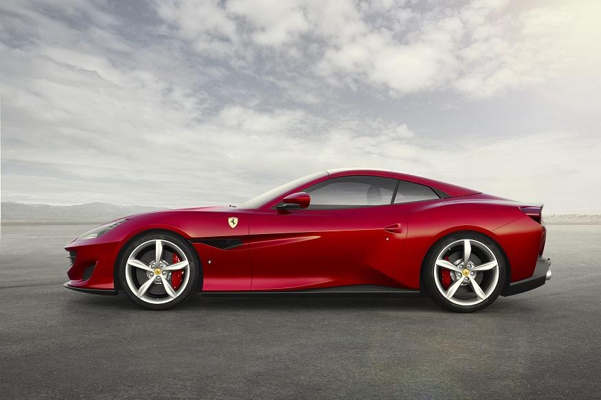 Ferrari Portofino - side view with roof closed. (Image: Ferrari)