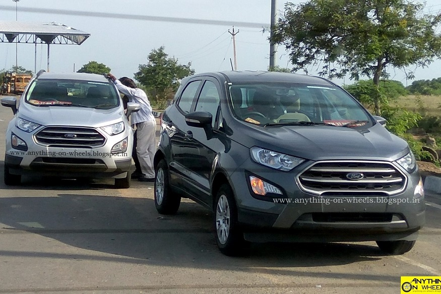 Ford Ecosport Facelift Spotted Looks Revealed