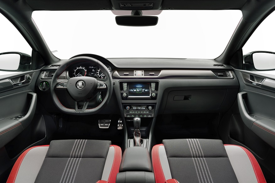 Interiors of Skoda Rapid Monte Carlo Edition. (Image: Skoda)