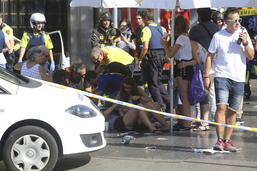 Barcelona Attack Live: Attackers Holed Up in Bar After Knocking Down Several People