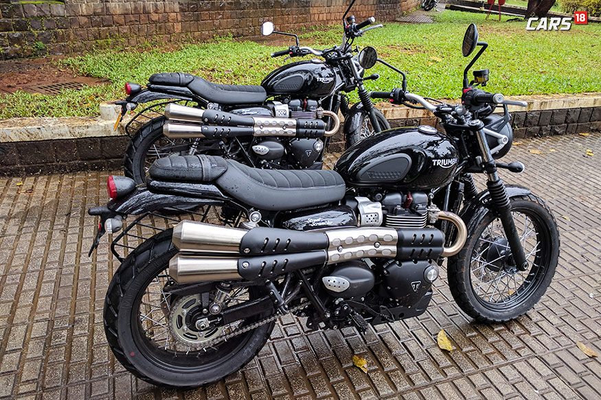 triumph street scrambler first ride review more capable more fun news18. Black Bedroom Furniture Sets. Home Design Ideas