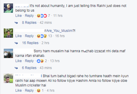 Irfan Pathan now trolled on Facebook for wearing a rakhi!