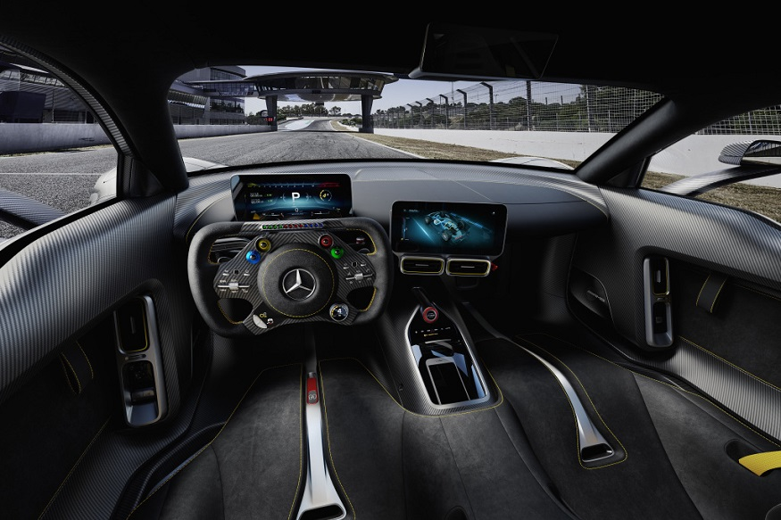 The Mercedes-AMG Project One - interior. (Image: Daimler AG)
