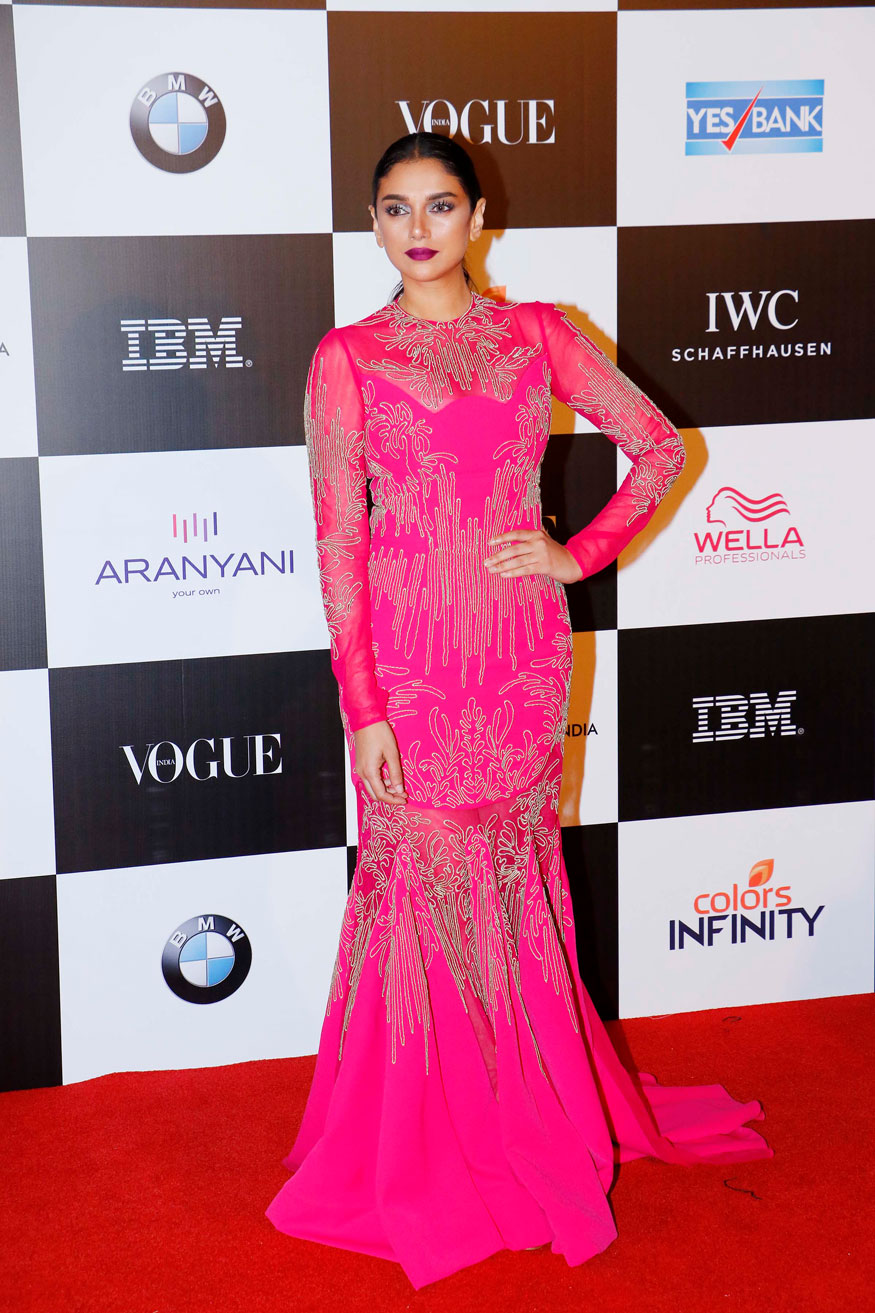 Aditi Rao Hydari attends the 'Vogue Women of the Year Awards 2017' at Grand Hyatt Hotel On Sunday, September 24, 2017 in Mumbai. (Image: Yogen Shah)
