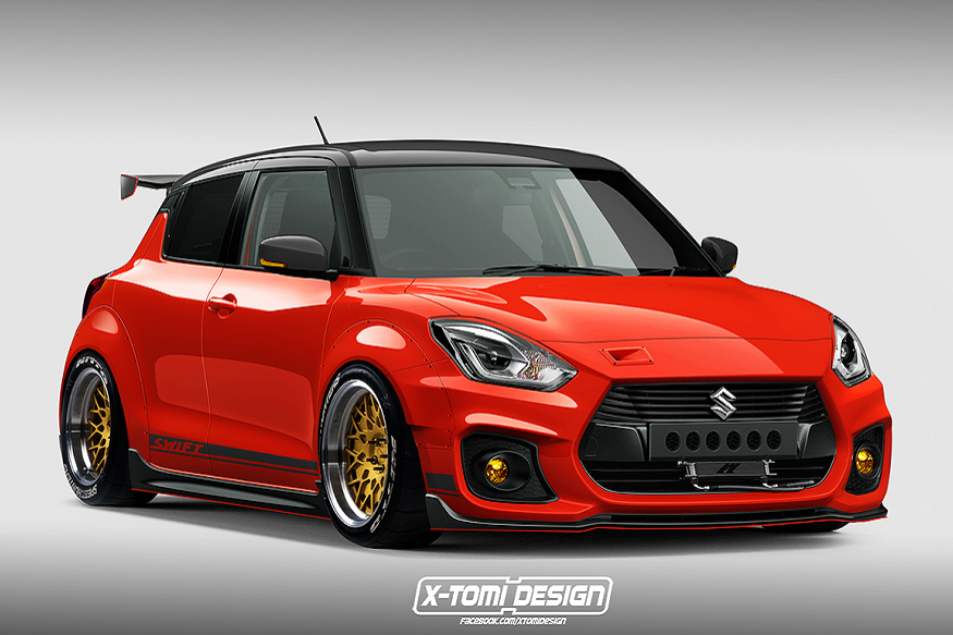 all new suzuki swift sport 2018 with widebody kit news18. Black Bedroom Furniture Sets. Home Design Ideas