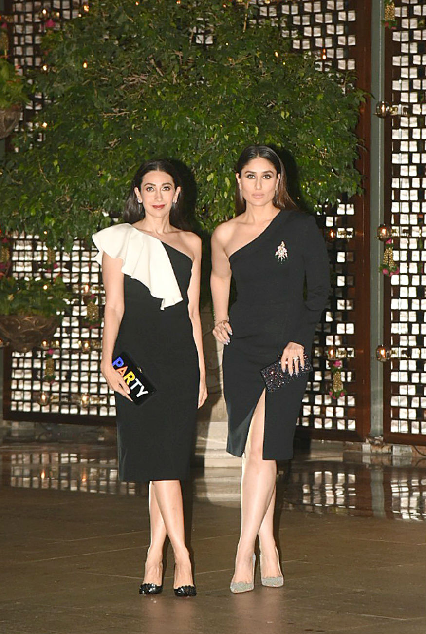 (Photo: Karisma Kapoor and Kareena Kapoor KHan at the Ambani bash/ Yogen Shah)