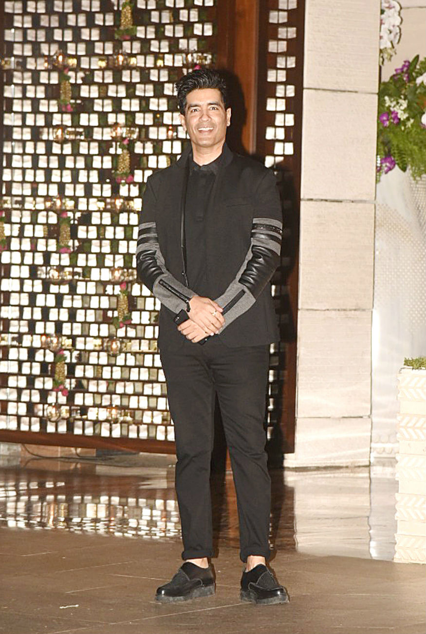 (Photo: Fashion designer Manish Malhotra at the Ambani bash/ Yogen Shah)