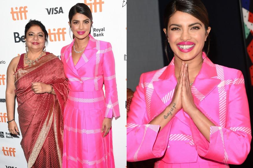 (Photo: Actress Priyanka Chopra and her mother Madhu Chopra at Toronto International Film Festival/Getty Images)