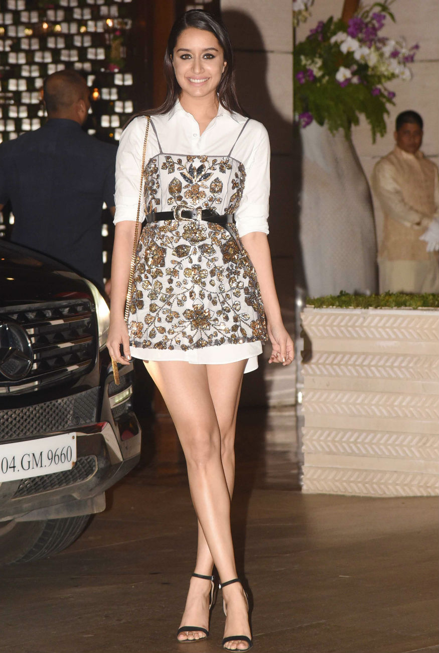 (Photo: Shraddha Kapoor at the Ambani bash/ Yogen Shah)