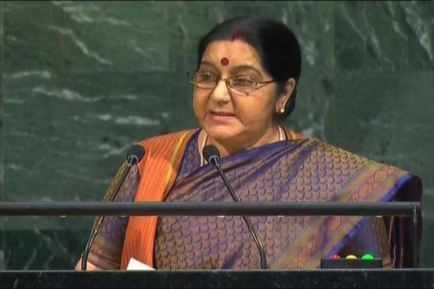 Sushma Swaraj at UN: We Created IITs and IIMs, Pakistan Created LeT and JeM