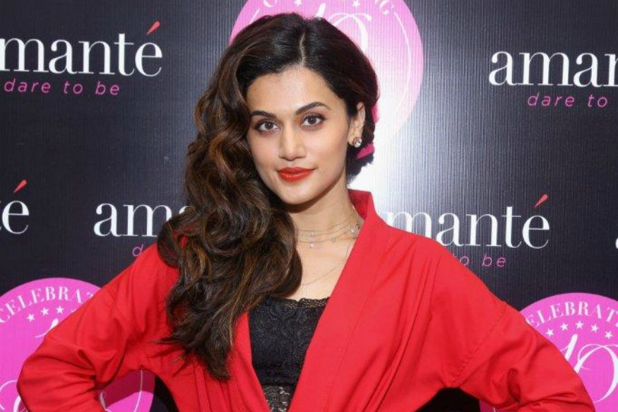 (Photo: Taapsee Pannu at Amante's store launch event in Gurgaon/ PR Pundit)
