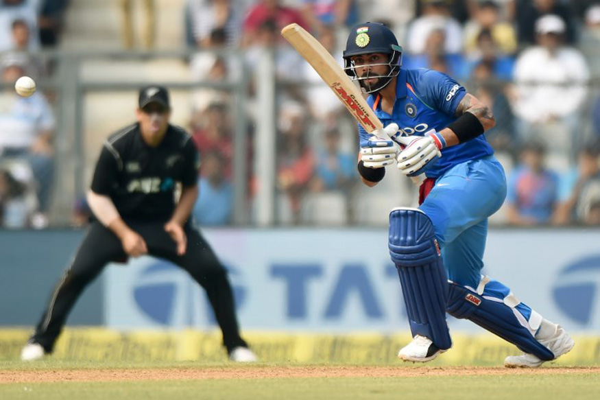 India vs New Zealand, Live Cricket Score, 1st ODI, Mumbai: Kohli Completes 50 in Landmark ODI