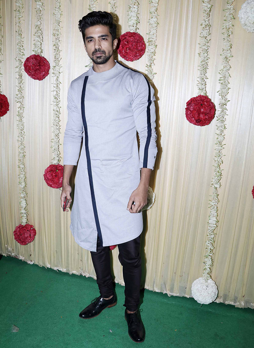 Saqib Saleem attends Ekta Kapoor's Diwali party hosted at her residence in Mumbai on October 17, 2017. (Image: Yogen Shah)