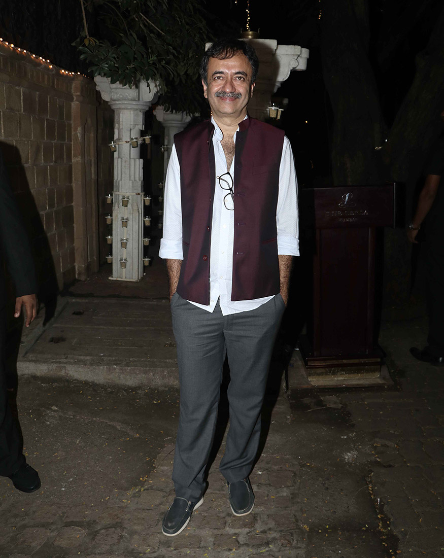 Ace filmmaker Raj Kumar Hirani at Anil Kapoor's Diwali party hosted at his residence in Mumbai on October 19, 2017. (Image: Yogen Shah)