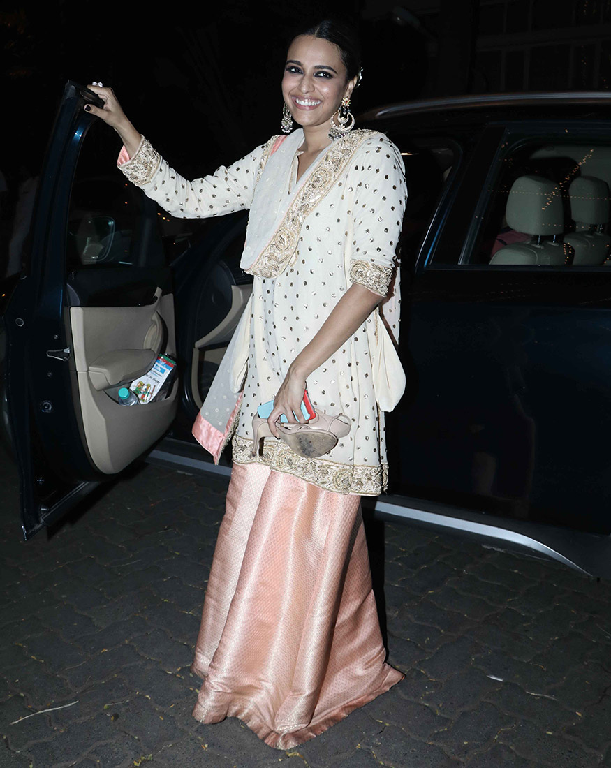 Swara Bhaskar at Anil Kapoor's Diwali party hosted at his residence in Mumbai on October 19, 2017. (Image: Yogen Shah)