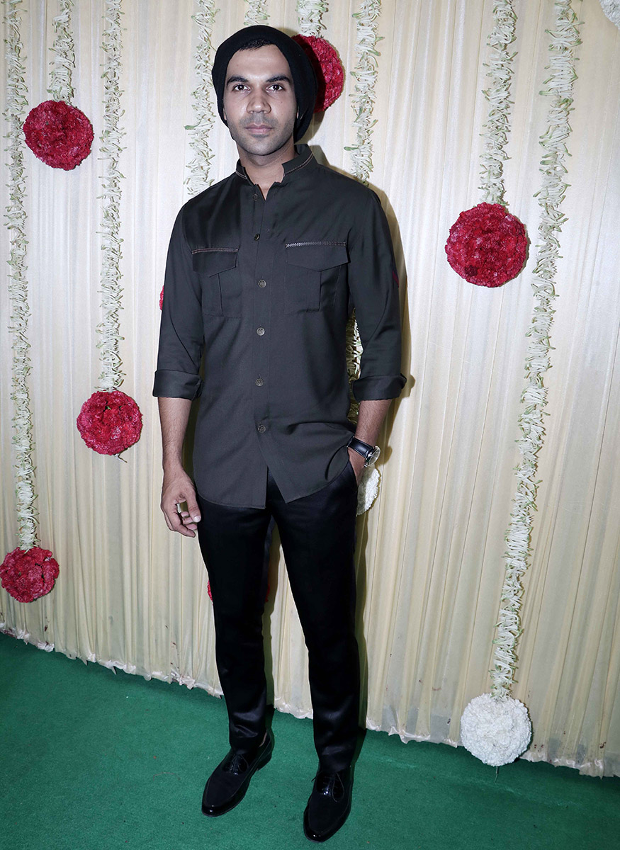 Rajkummar Rao at Ekta Kapoor's Diwali party hosted at her residence in Mumbai on October 17, 2017. (Image: Yogen Shah)