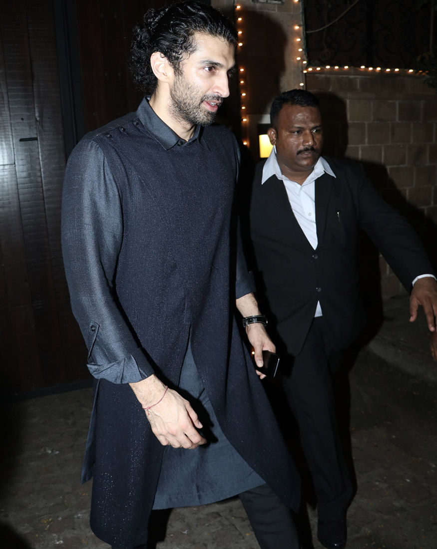 Aditya Roy Kapoor during Anil Kapoor's Diwali party hosted at his residence in Mumbai on October 19, 2017. (Image: Yogen Shah)